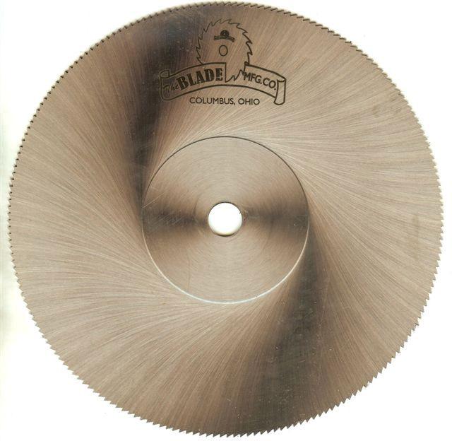 miter saw blade cutting steel
